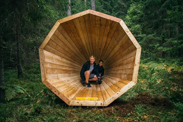 mégaphone estonie forêt