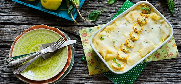 lasagne légumes verts courgette jaune