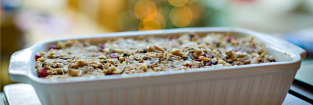 Recette de fête : rôti végétal de Noël à la farce et sa sauce
