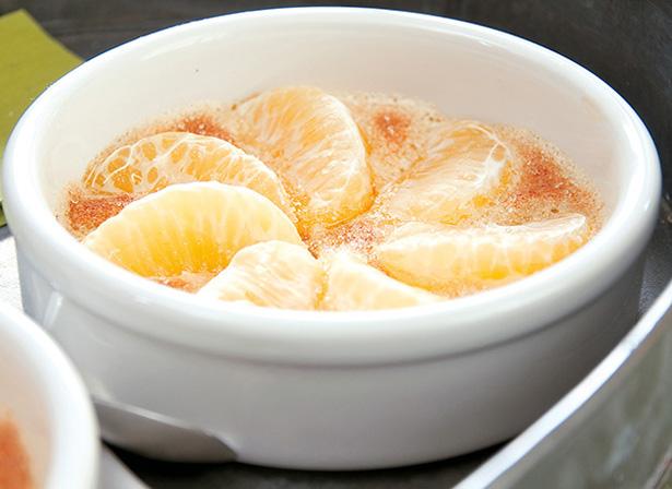 nuances gourmandes orange, gratin de clémentines orange