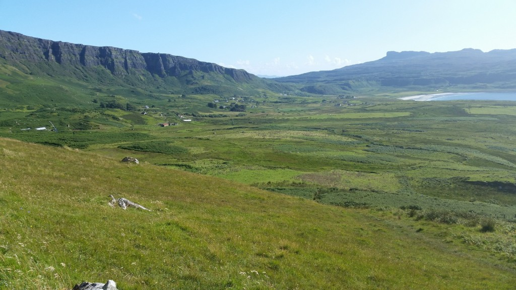 paysage de l'île d'Eigg 100% énergie verte