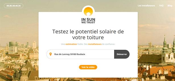 In Sun We Trust: L'application qui nous aide à installer des panneaux solaires