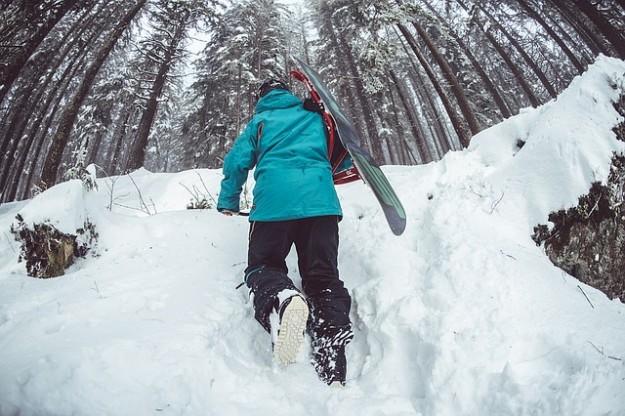 polluer à la montagne, ski, neige, randonnée