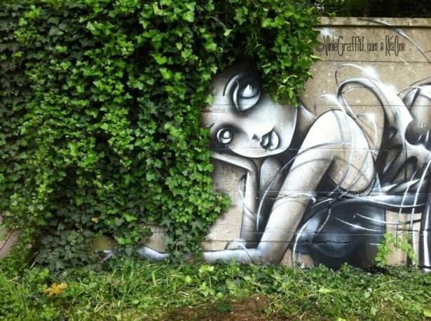 Graffiti végétal: valoriser la nature des viles