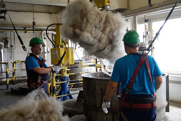 Un nylon à base de filets de pêche qui aide à nettoyer les océans