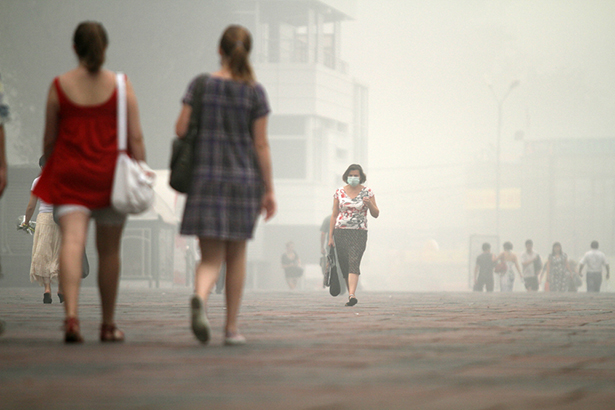 pollution air ambiant Moscou