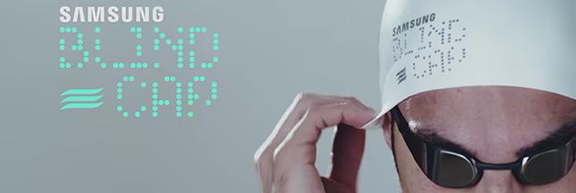 Blind Cap : le bonnet de natation high-tech pour non-voyants
