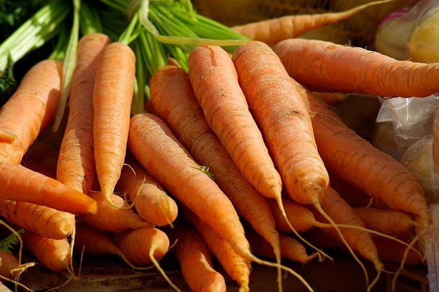carottes béta-carotène soleil