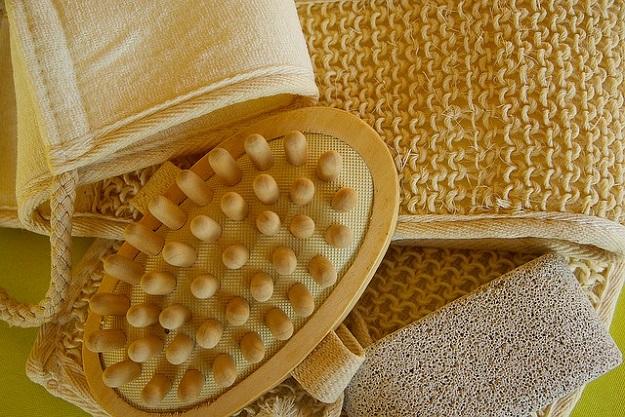 gommage gant crin peau