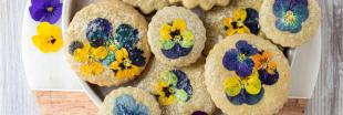 Recette de printemps : palets aux violettes