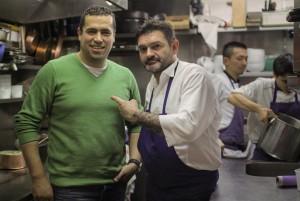 Mohammad El Khaldy et le chef Stéphane Jégot de l'Ami Jean. (Photo Food Sweet Food)