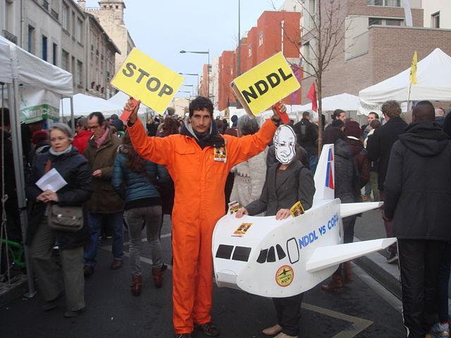 manifestants notre dame des landes