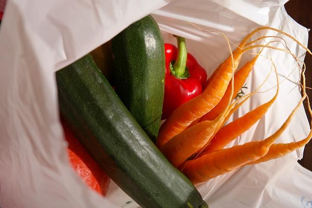 sacs plastique légumes