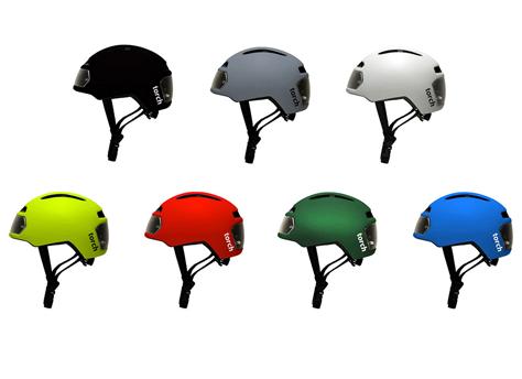 Casque de vélo à LED intégrées TORCH