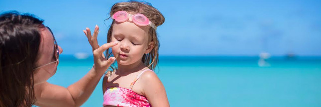 Santé : attention aux crèmes solaires pour enfants !