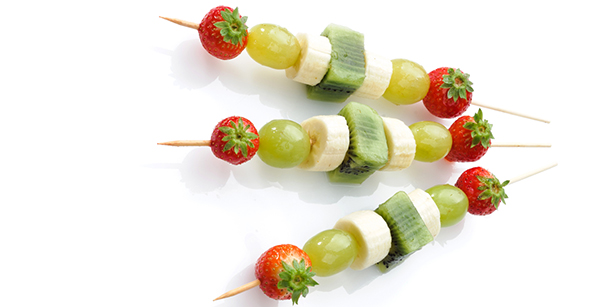 desserts au barbecue brochettes de fruits