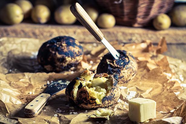 légumes au barbecue pommes de terre trapeur