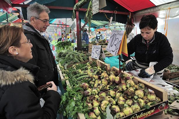 Turin marché alimentaire ville végétarienne