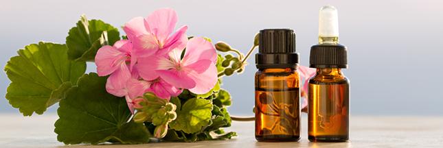 trousse aromathérapie huile essentielle de géranium