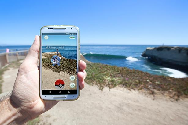 pokemon go smartphone plage