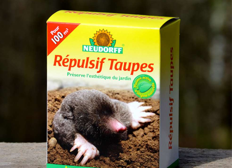 Répulsif naturel contre les taupes. Boîte 200 g.