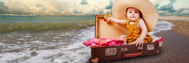 5 astuces pour préparer la valise d'été de bébé