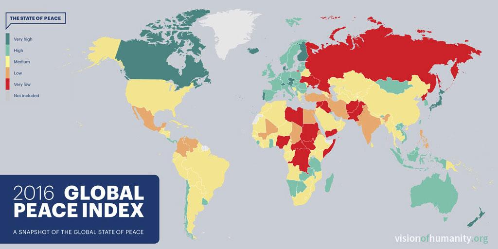 pays les plus dangereux