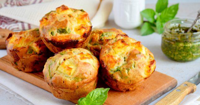 Recette bio: muffins sans gluten au pesto d'aneth
