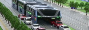 Arnaque : le bus qui enjambe les voitures n'a jamais vraiment existé