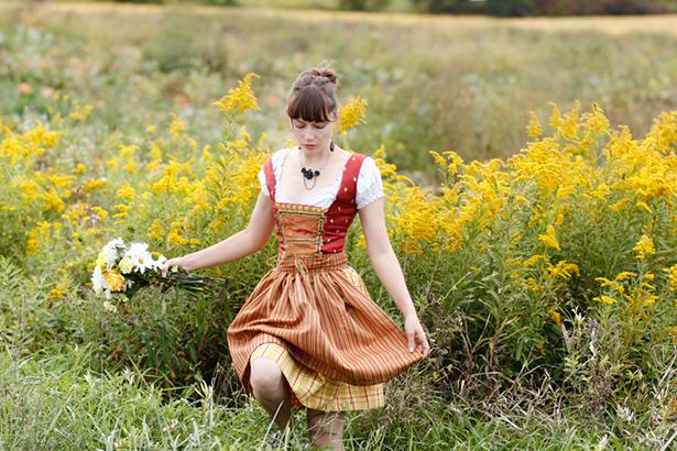 robe traditionnelle allemande et autrichienne