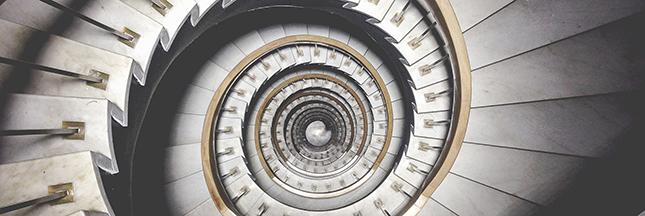 cage d'escalier hypnotique, hypnose