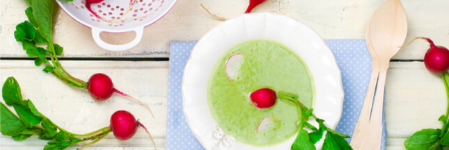 La recette du potage aux fanes de radis