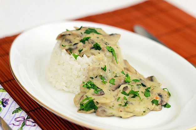 recette, champignons, risotto