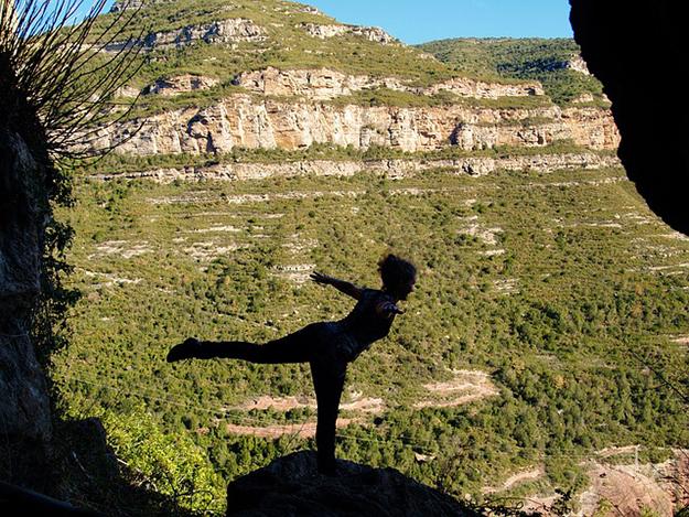 yoga, nature, liberté