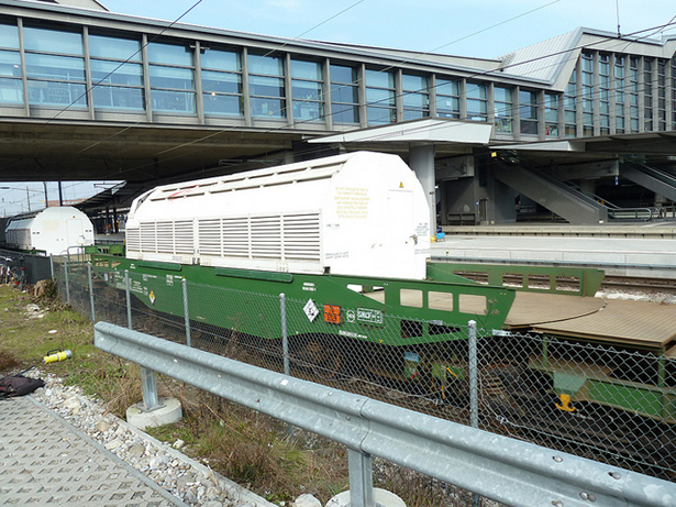 convoi, déchets radioactifs, train Castor