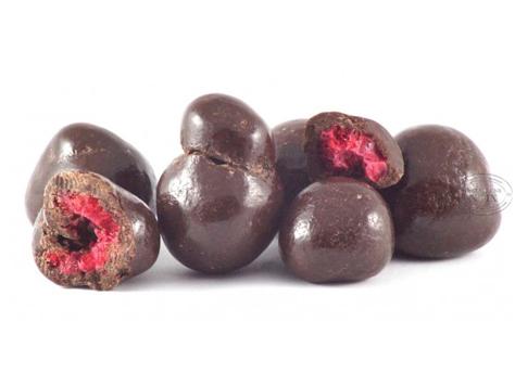 Framboises au chocolat noir Bio