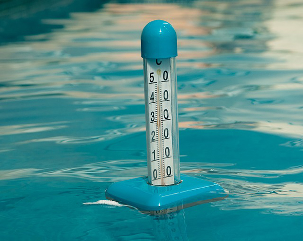 piscine, thermomètre, température de l'eau