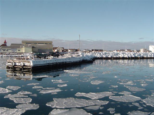 Saint Pierre et Miquelon, port de Saint Pierre, territoires françis