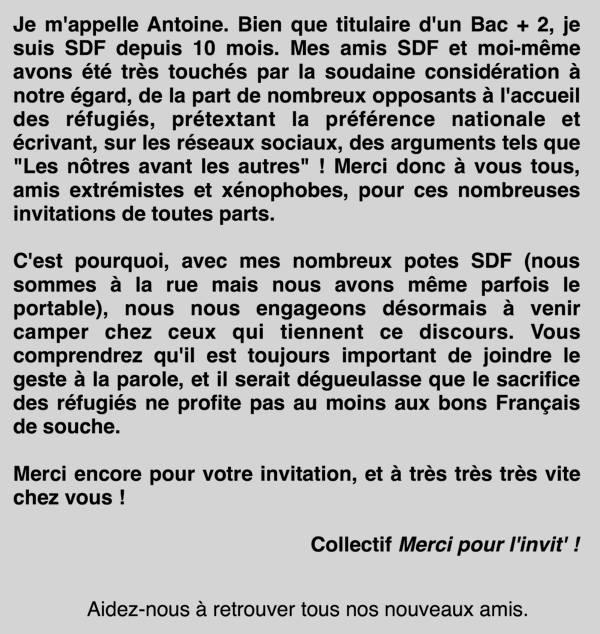 SDF, migrants, coup de gueule, Pascal Pistone