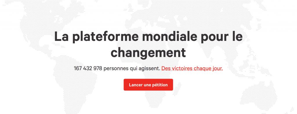 mon e-parti, petition en ligne