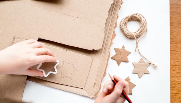 guirlande de Noël en carton
