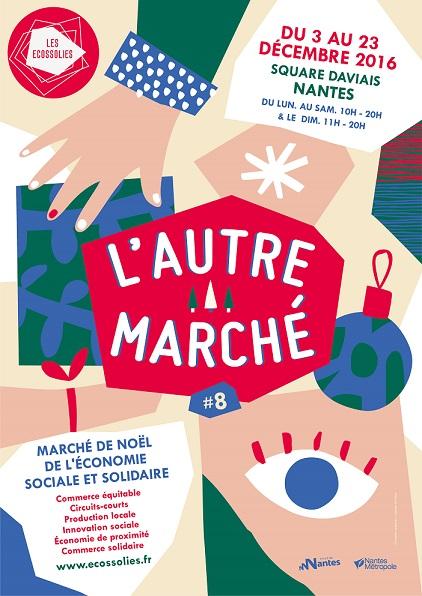 marchés de Noël, Noël solidaire, Noêl responsable, Autre Marché, Nantes