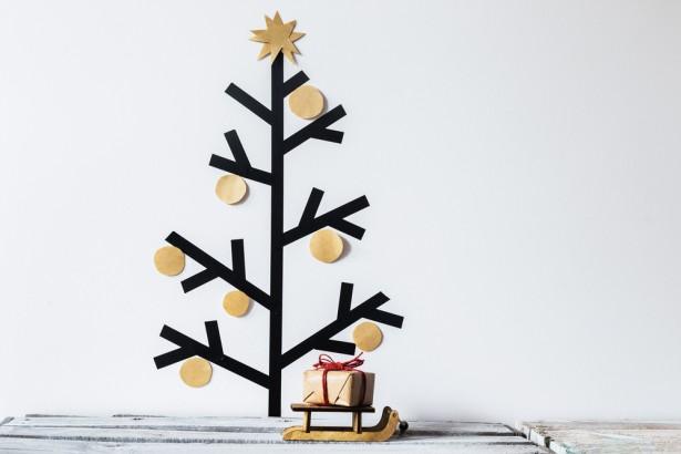 arbre de Noël, alternatives aux sapins, collages