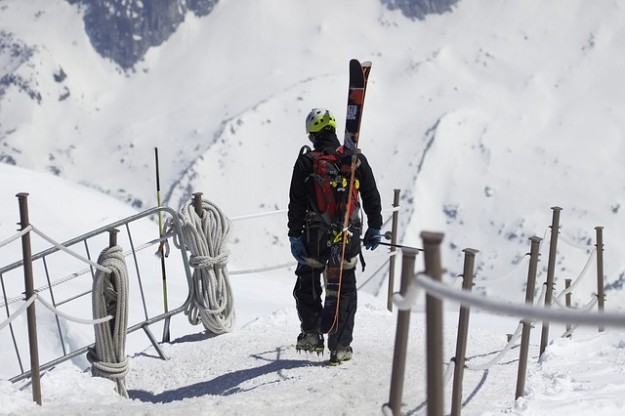 statiosn de ski, Chamonix, Mont Blanc, skieur