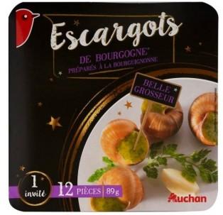 auchan, escargots de Bourgogne