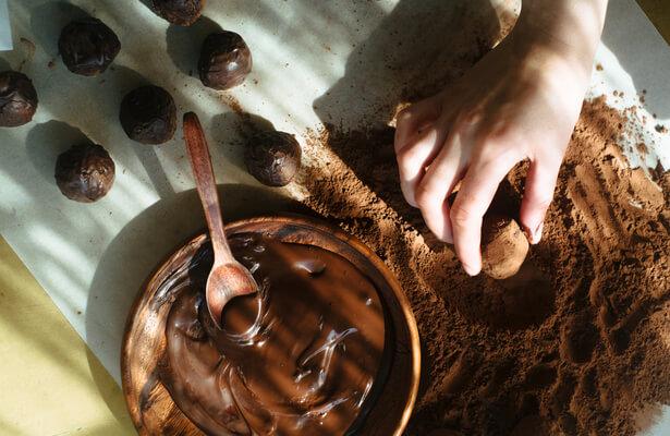 Truffes au chocolat fait maison