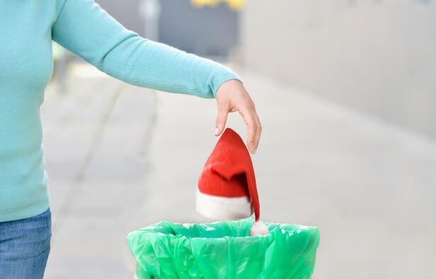 déchets de Noël, après Noël