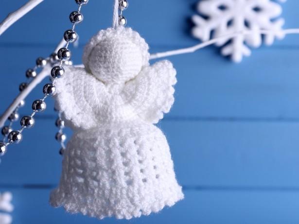 déco sapin, ange de noël, crochet, coton