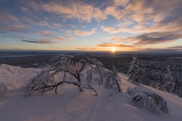 pays du père noël, paysage nordique