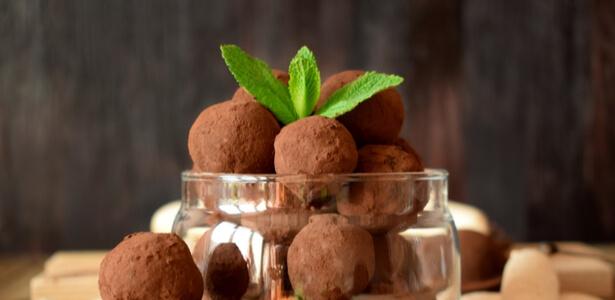 Truffes chocolat noir et menthe